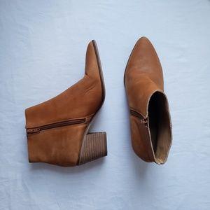 Lucky Brand Linnea Leather Zip Boots Boho 10M